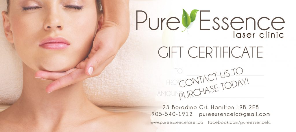 Pure Essence Laser Hair Removal Certificates are Now Available